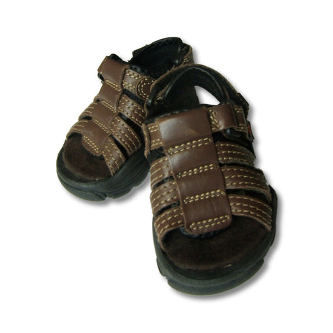 used Faded Glory boy's brown sandals