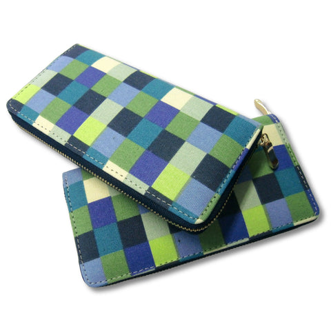 new Rich Fashion ladies blue and green clutch