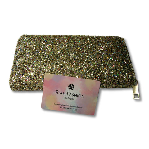 new Rich Fashion ladies gold glitter clutch