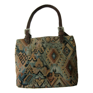 used Brighton ladies brown and print purse
