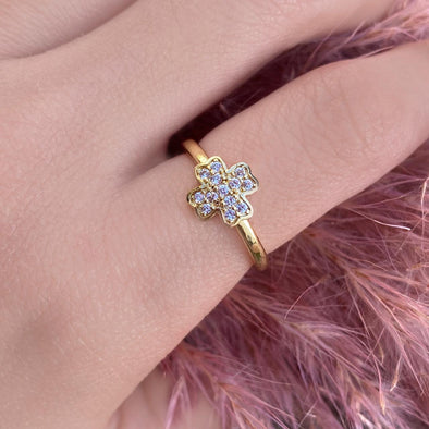 Pave Clover Ring (Z006)