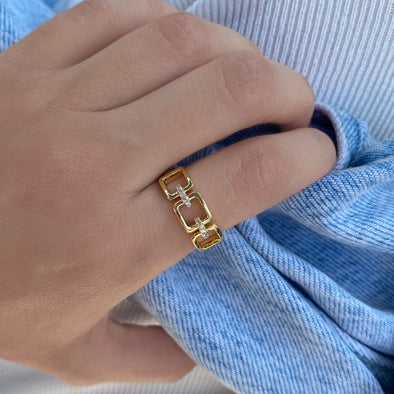 Square Link Ring (W110)