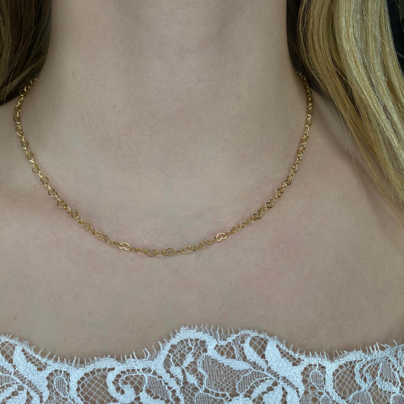 Rolo Heart Chain (281)