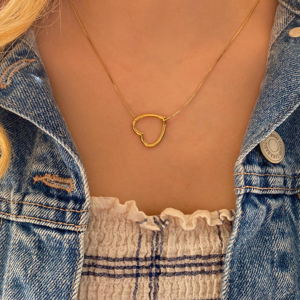 Open Heart Necklace (1272)