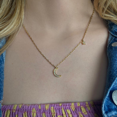 Solar Eclipse Necklace  (1294)