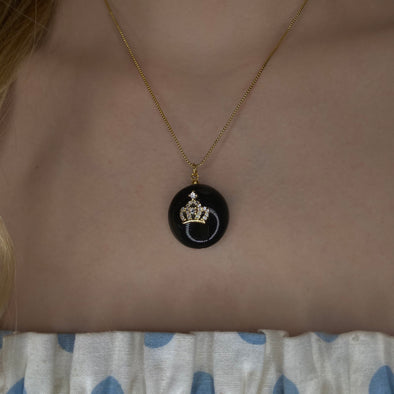 Royal Onyx Necklace (W031)