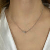 Pave Clasp Necklace (1120)