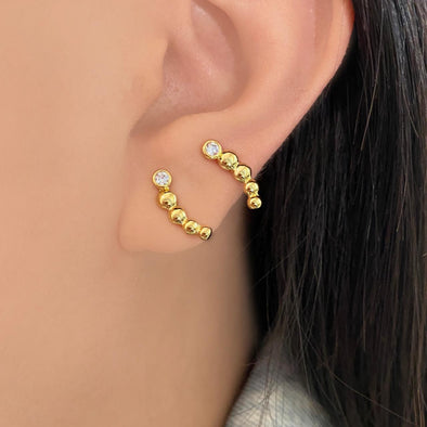 Gold Beads Earcrawler (1276)