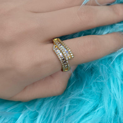 Double Baguette Ring (Z010)