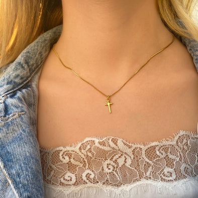 Mini Plain Cross Pendant (1278)