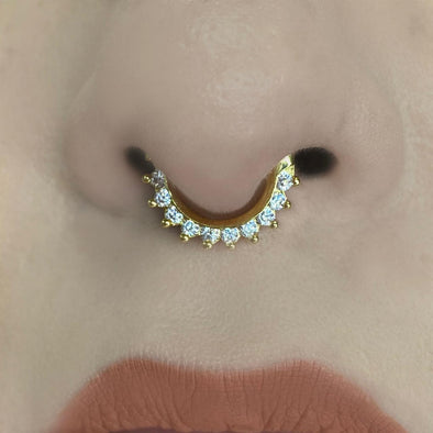 Multizircon Nose Ring (KI172)