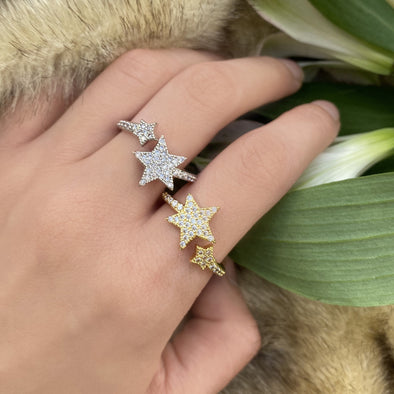 Double Star Adjustable Ring (1161)