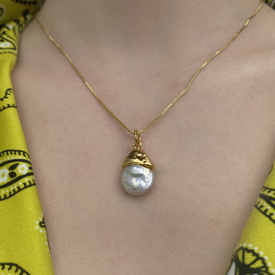Barroque Pearl Necklace (142)