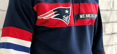 Upcycled Patriots gear gives overstocked items second life