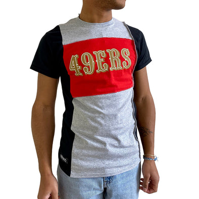 San Francisco 49ers Short Sleeve Split Side Tee - Black/White/Grey