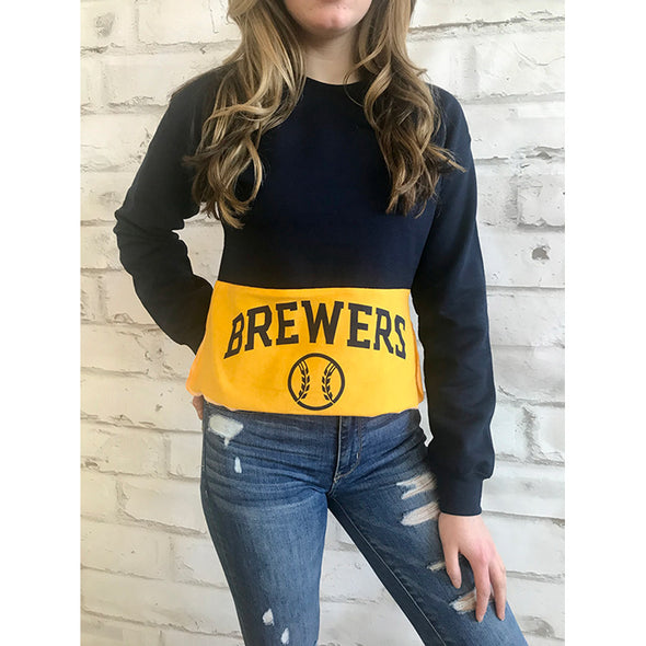 Milwaukee Brewers Crop Sweatshirt