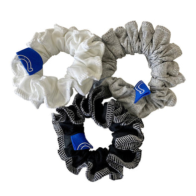 Indianapolis Colts Hair Scrunchies – 3-Pack - Black/White/Grey