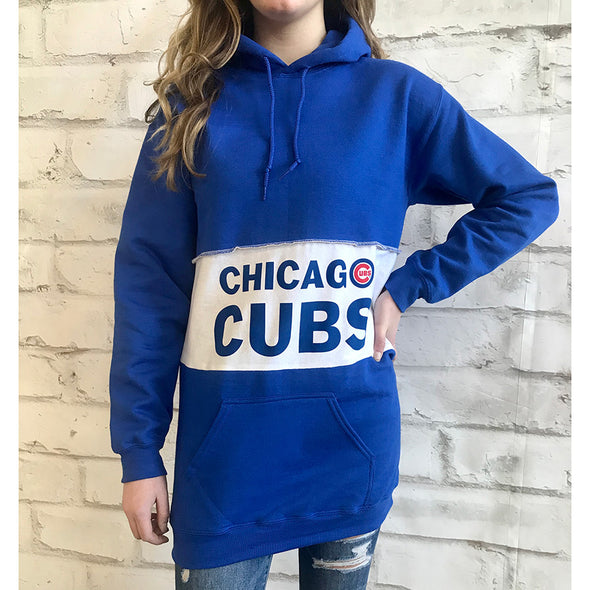Chicago Cubs Hooded Sweatshirt Dress