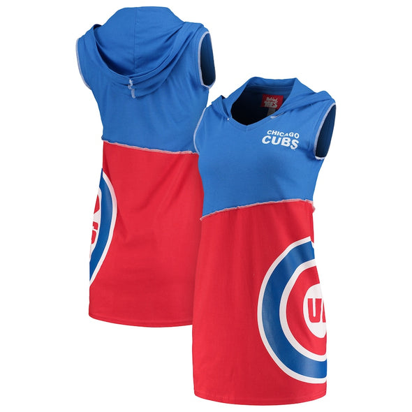 Chicago Cubs Hooded Mini Dress