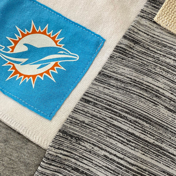 Miami Dolphins Tote Bag - Black/White/Grey