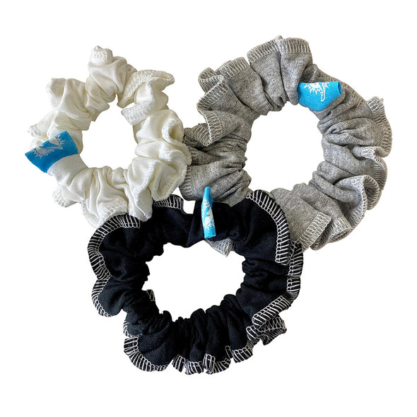 Miami Dolphins Hair Scrunchies – 3-Pack - Black/White/Grey
