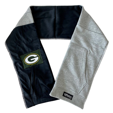Green Bay Packers Unisex Scarf - Black/White/Grey