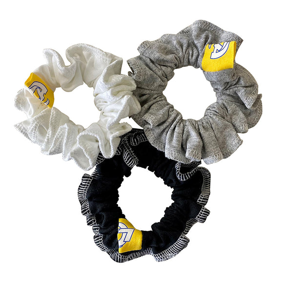 Los Angeles Rams Hair Scrunchies – 3-Pack - Black/White/Grey