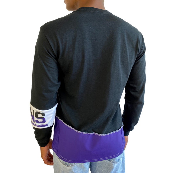 Baltimore Ravens Long Sleeve Split Angle Tee