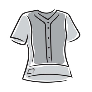 MLB Button Short Sleeve Jersey Fashion Top