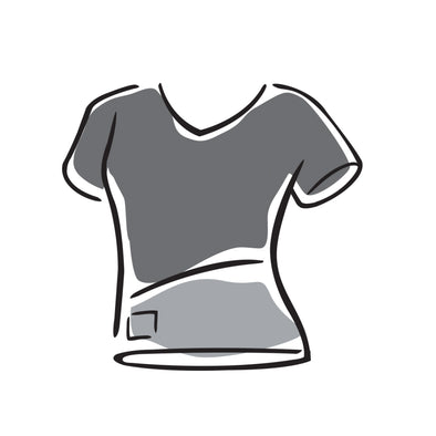 Women's  V-neck Top - Short-Sleeve