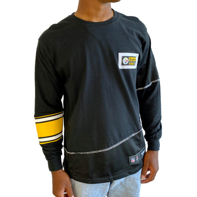 Pittsburgh Steelers Long Sleeve Split Angle Tee