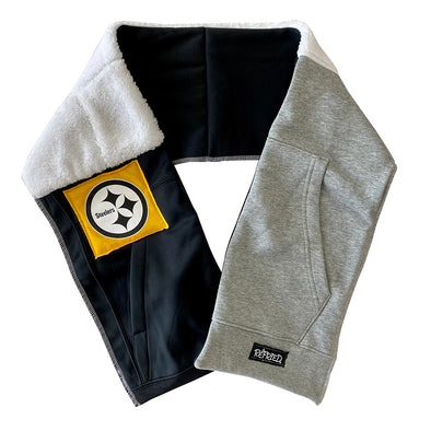 Pittsburgh Steelers Unisex Scarf - Black/White/Grey