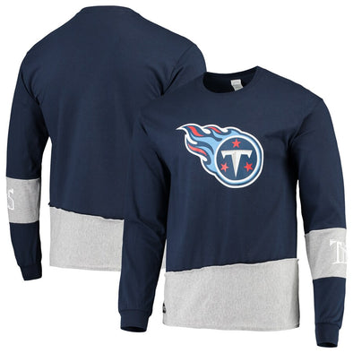 Tennessee Titans Split Angle Long Sleeve Tee Top