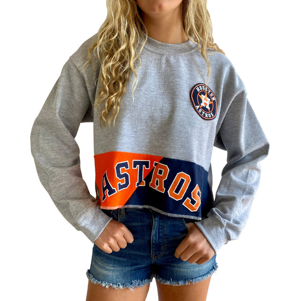 Houston Astros Crew Crop Sweatshirt