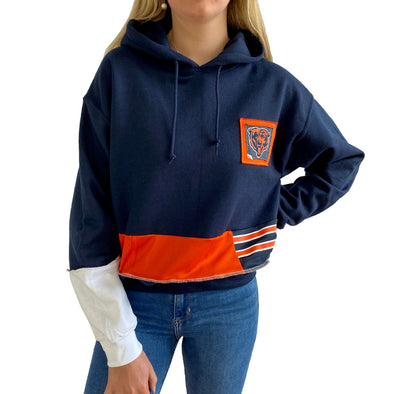 Chicago Bears Hooded Crop Sweatshirt