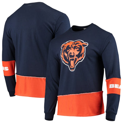 Chicago Bears Split Angle Long Sleeve Tee Top