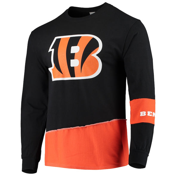 Cincinnati Bengals Split Angle Long Sleeve Tee Top