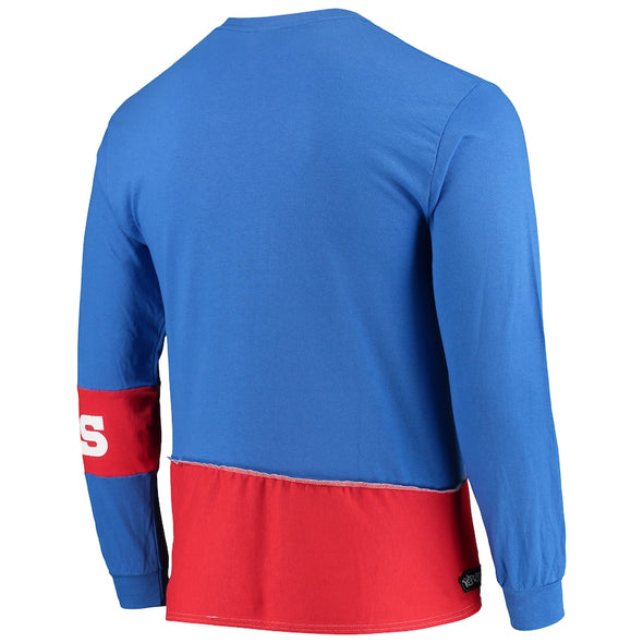 Buffalo Bills Split Angle Long Sleeve Tee Top