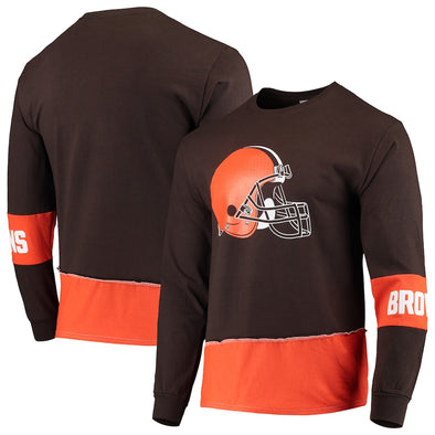 Cleveland Browns Split Angle Long Sleeve Tee Top