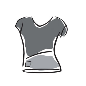 Women's V-neck Top - Cap Sleeve