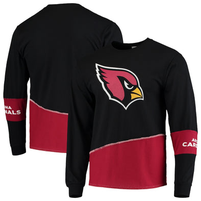 Arizona Cardinals Split Angle Long Sleeve Tee Top