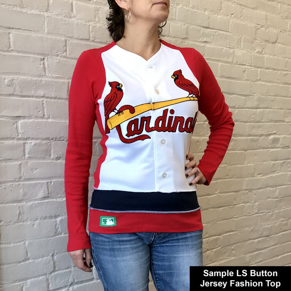 MLB Button Long Sleeve Jersey Fashion Top