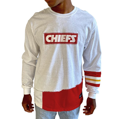 Kansas City Chiefs Long Sleeve Split Angle Tee