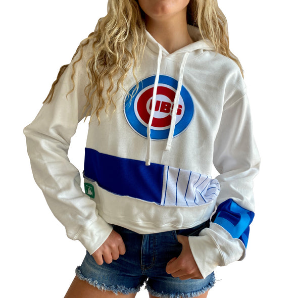 Chicago Cubs Hooded Crop Sweatshirt