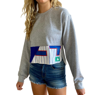 Chicago Cubs Crew Crop Sweatshirt