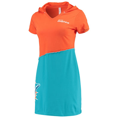 Miami Dolphins Hooded Mini Dress
