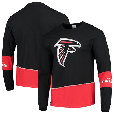 Atlanta Falcons Split Angle Long Sleeve Tee Top