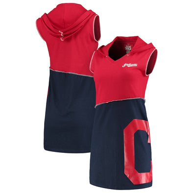 Cleveland Indians Hooded Mini Dress