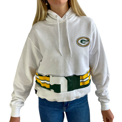 Green Bay Packers Hooded Crop Sweatshirt