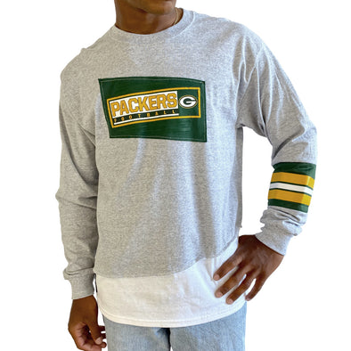 Green Bay Packers Long Sleeve Split Angle Tee